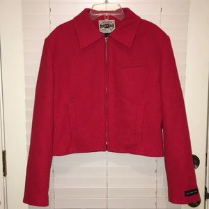 Red Cropped Jacket, super cute! - Sz S